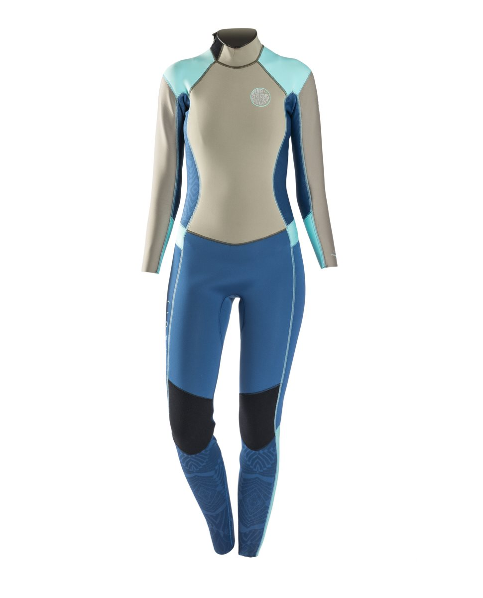 Rip Curl Women s Dawn Patrol 4 3 Wetsuit - Back Zip - Puravida Board ... ad4b7a69f46b